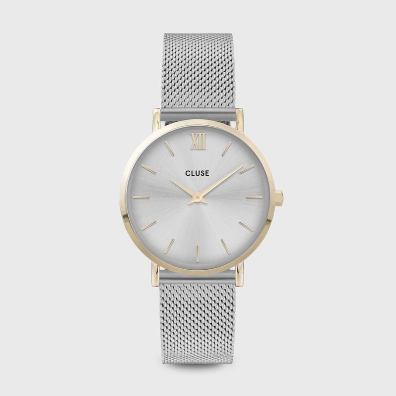 CLUSE Minuit Mesh Gold/Silver Ladies Watch