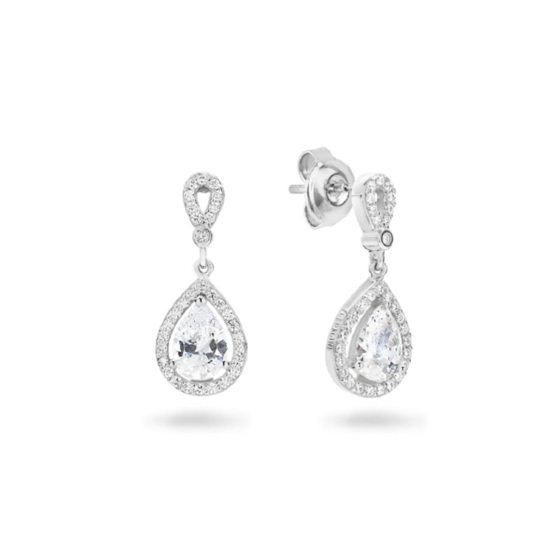 Georgini - Libra Sterling Silver Cubic Zirconia Drop Earrings