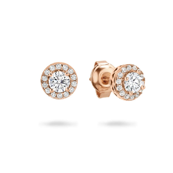Georgini - Petite Rose Gold Plated Sterling Silver Cubic Zirconia Stud Earrings