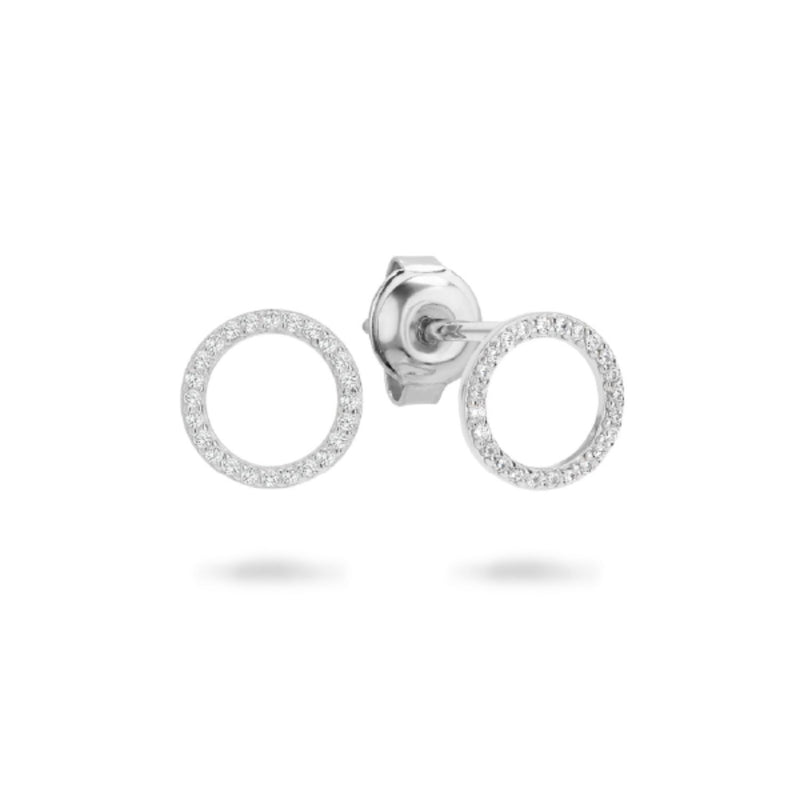 Georgini - Ara Sterling Silver Cubic Zirconia Stud Earrings