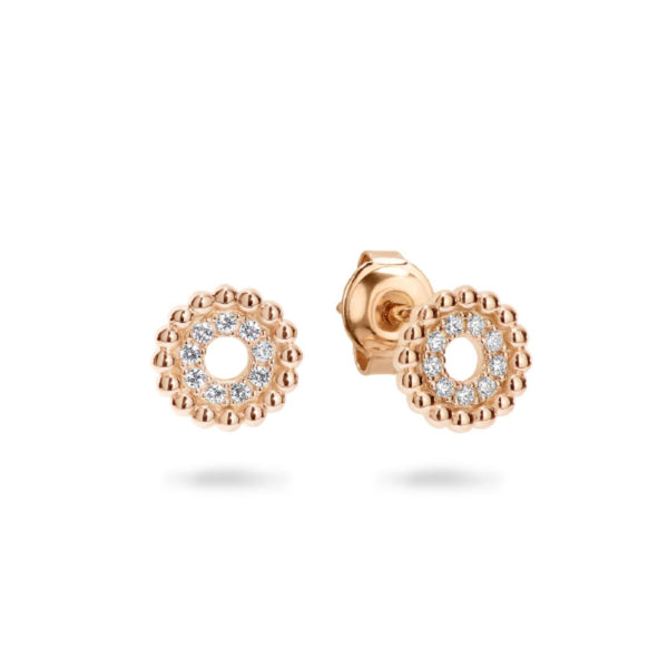 Georgini-Aries Rose Gold Plated Sterling Silver Cubic Zirconia Stud Earrings