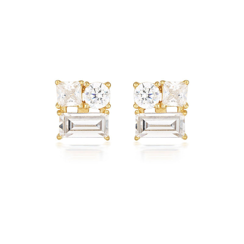 Georgini-Thea Gold  Cubic Zirconia Stud Earrings