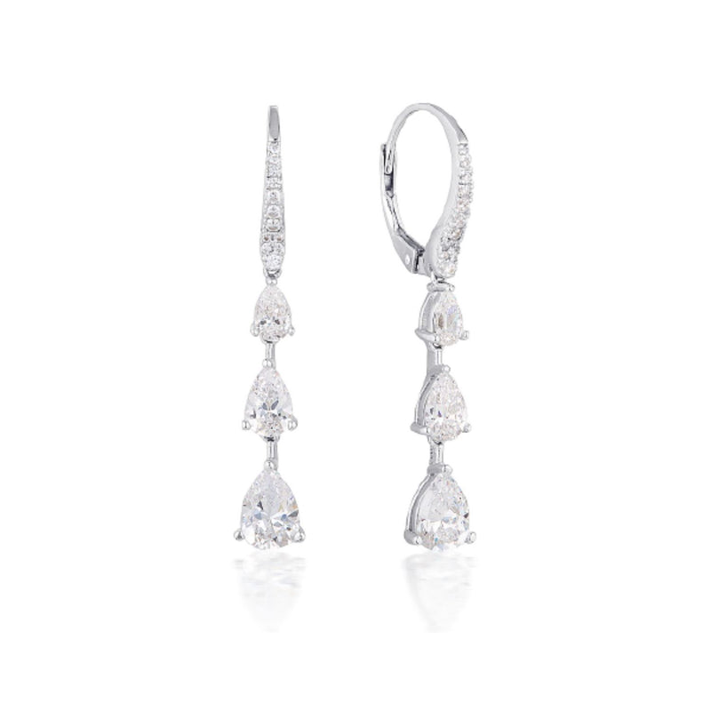 Georgini - Chantelle Teardrop Sterling Silver Cubic Zirconia Drop Earrings