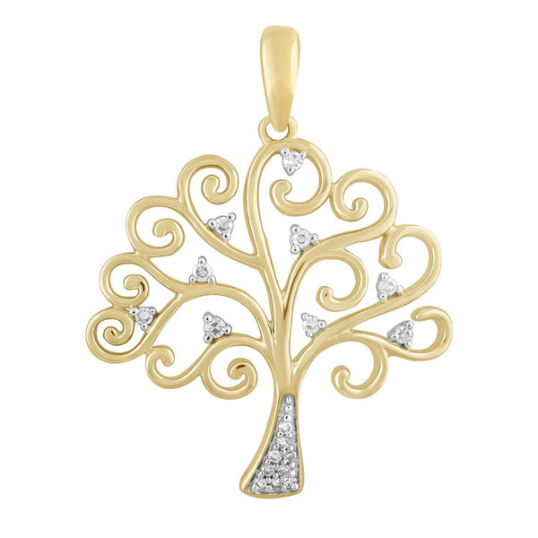 Pendant with 0.05ct Diamond in 9K Yellow Gold