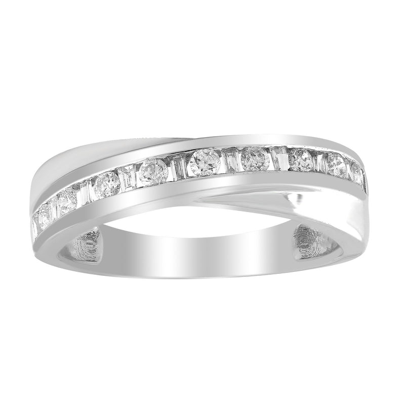 Ring with 0.33ct Diamond in 9K White Gold