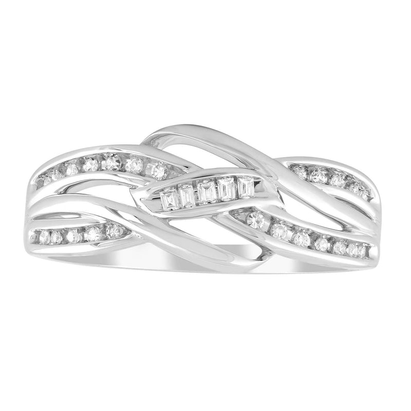 Ring with 0.12ct Diamonds in 9K White Gold