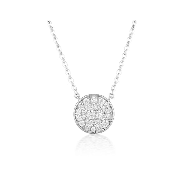 Georgini - Mosaic Disc Sterling Silver Cubic Zirconia Necklet