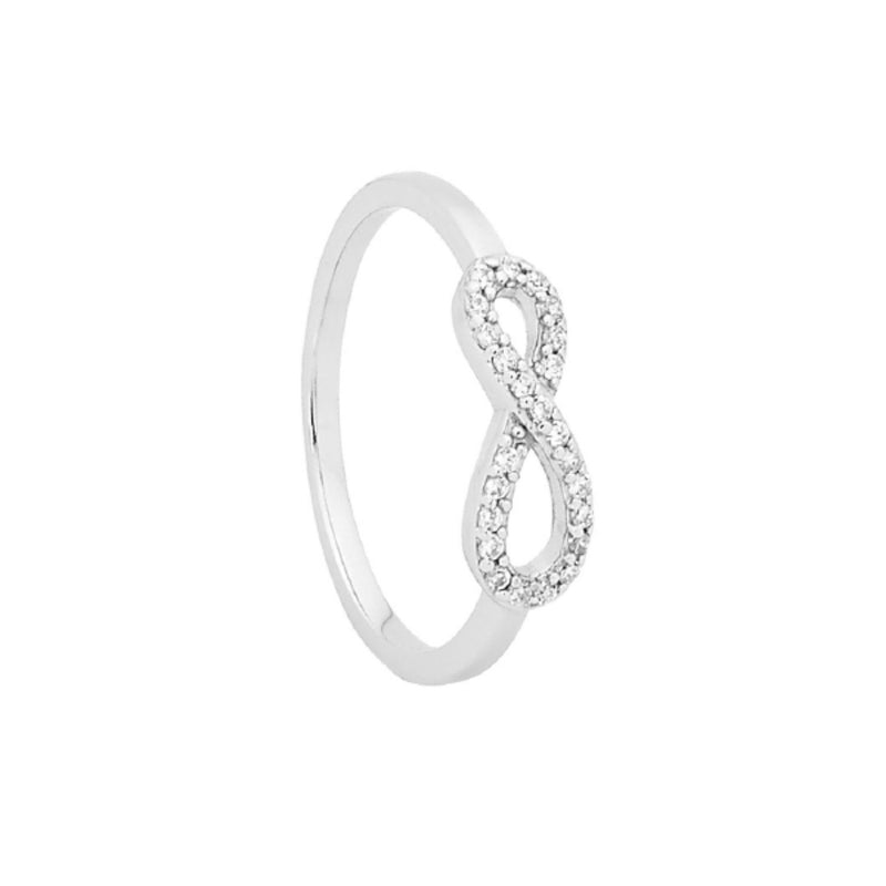 Georgini - Petite Infinity Sterling Silver Cubic Zirconia Ring