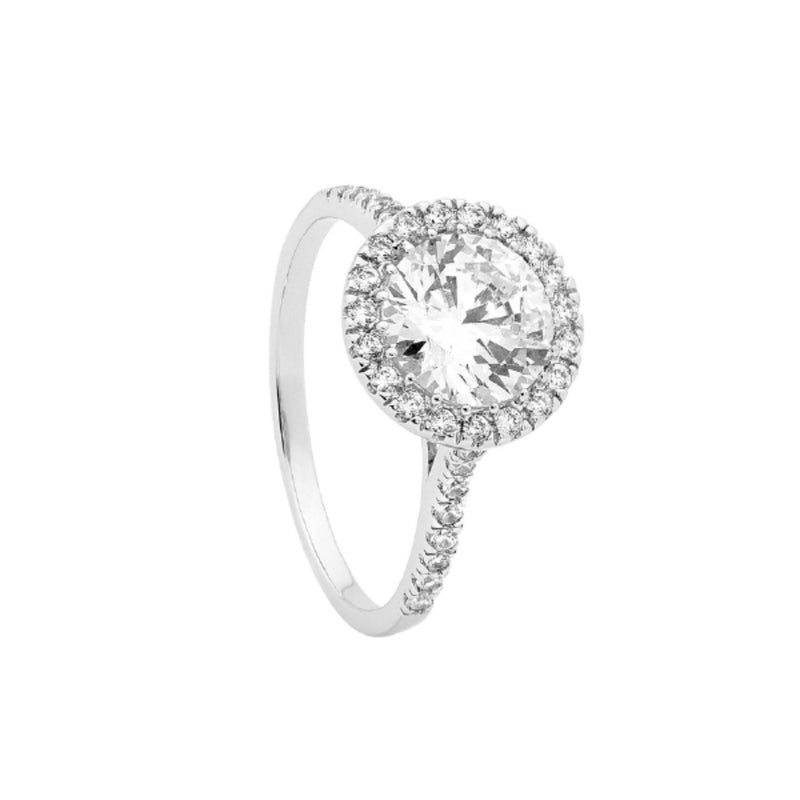 Georgini - Halo Large Sterling Silver Cubic Zirconia Ring