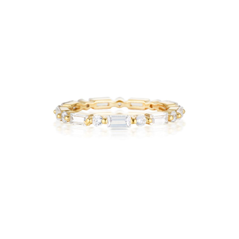 Georgini - Irina 18ct Gold Plated Sterling Silver Cubic Zirconia Ring