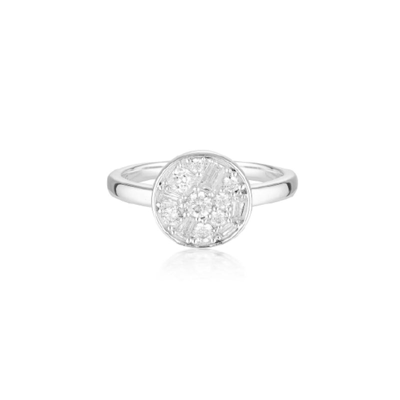 Georgini - Mosaic Disc Sterling Silver Cubic Zirconia Ring