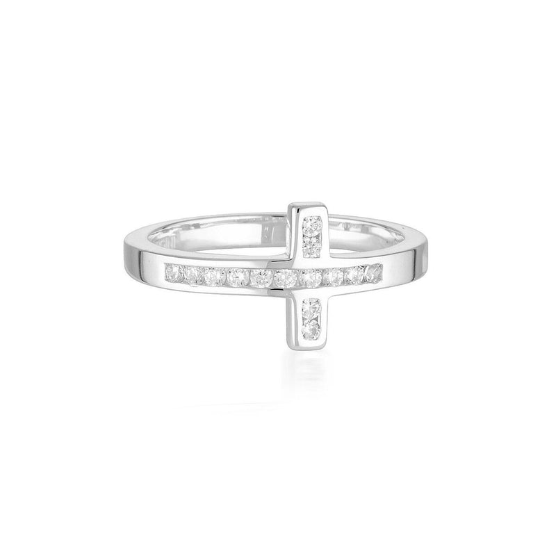 Georgini - Spiritus Wrap Cross Sterling Silver Cubic Zirconia Ring