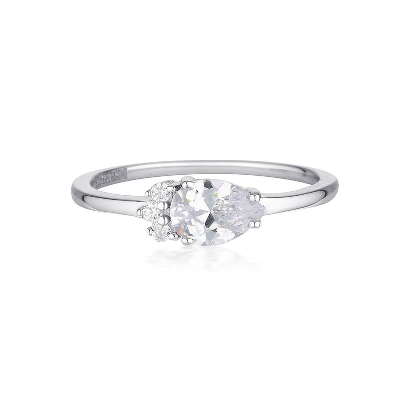 Georgini - Willow Sterling Silver Cubic Zirconia Ring