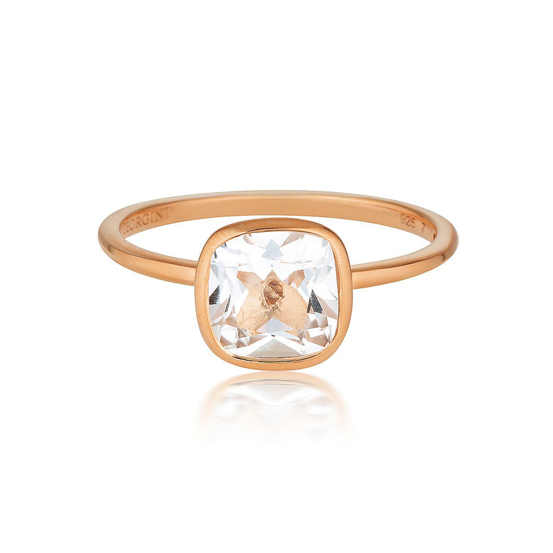 Georgini - Doros Rose Gold White Topaz Ring