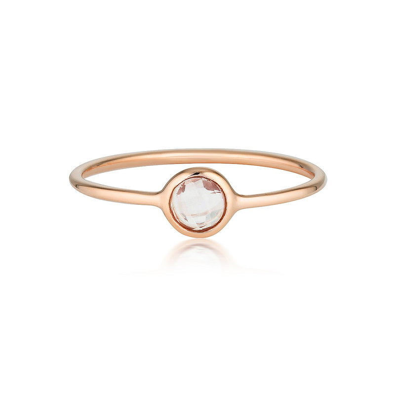Georgini - Eos Rose Gold Rose Quartz Ring