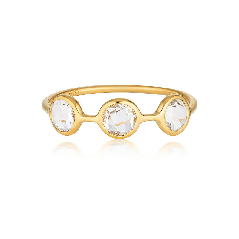 Georgini - Kiklo Yellow Gold White Topaz Ring