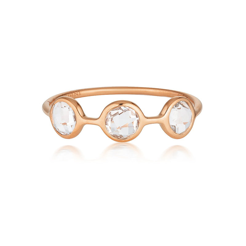 Georgini - Kiklo Rose Gold White Topaz Ring