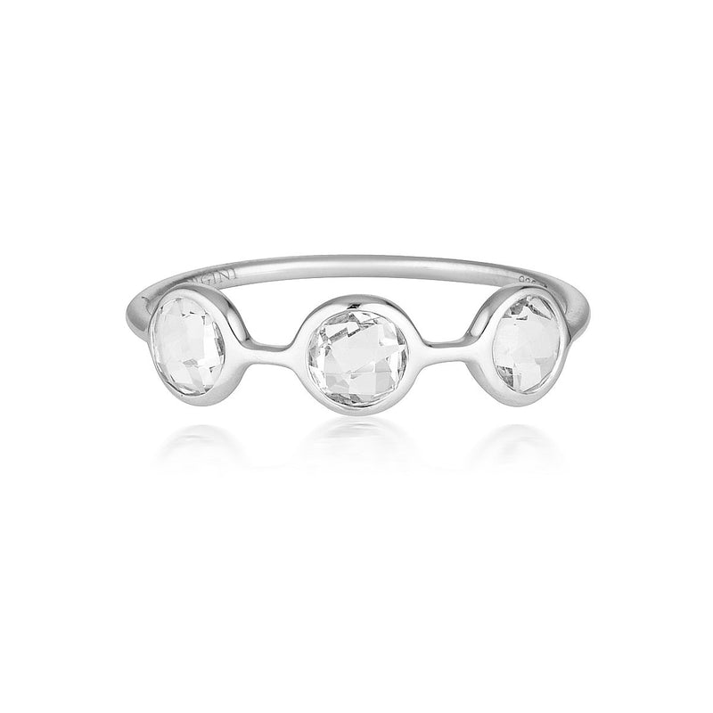 Georgini - Kiklo Sterling Silver White Topaz Ring