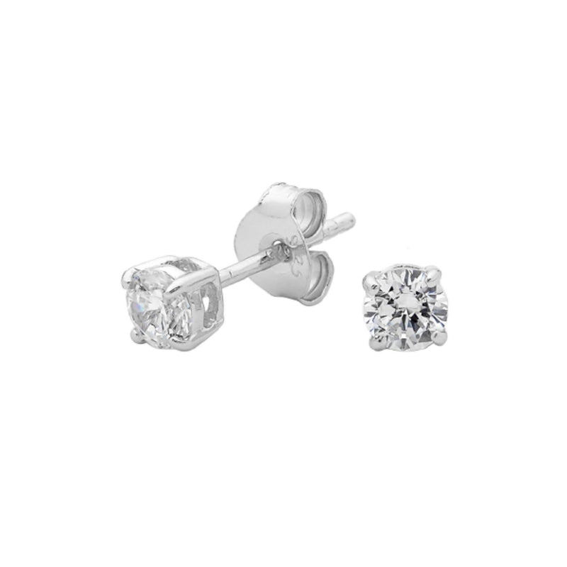 Georgini - Sterling Silver 4mm Cubic Zirconia Stud Earrings