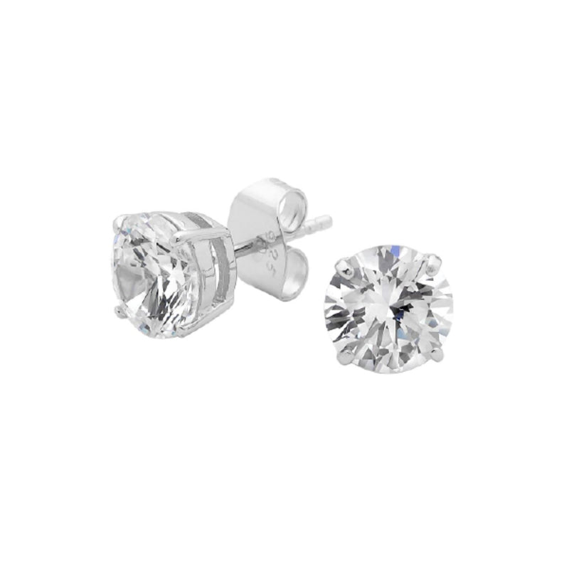 Georgini - Sterling Silver 8mm Cubic Zirconia Stud Earrings