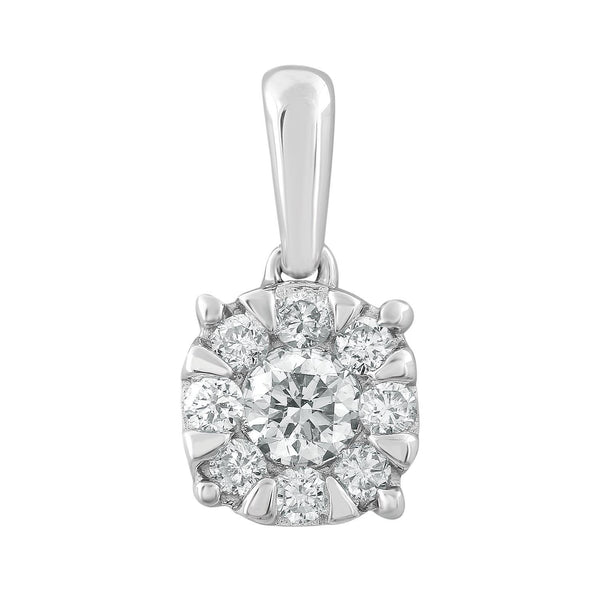 Pendant with 0.25ct Diamonds in 9K White Gold