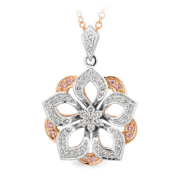 PINK CAVIAR 0.44ct Pink Diamond Pendant in 9ct White & Rose Gold