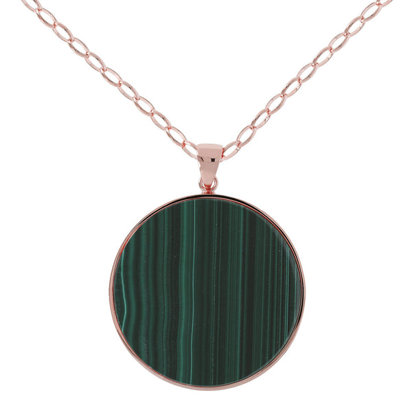 Bronzallure Malachite Big Disc Necklace