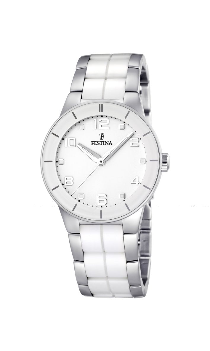 Festina Ceramic White Watch