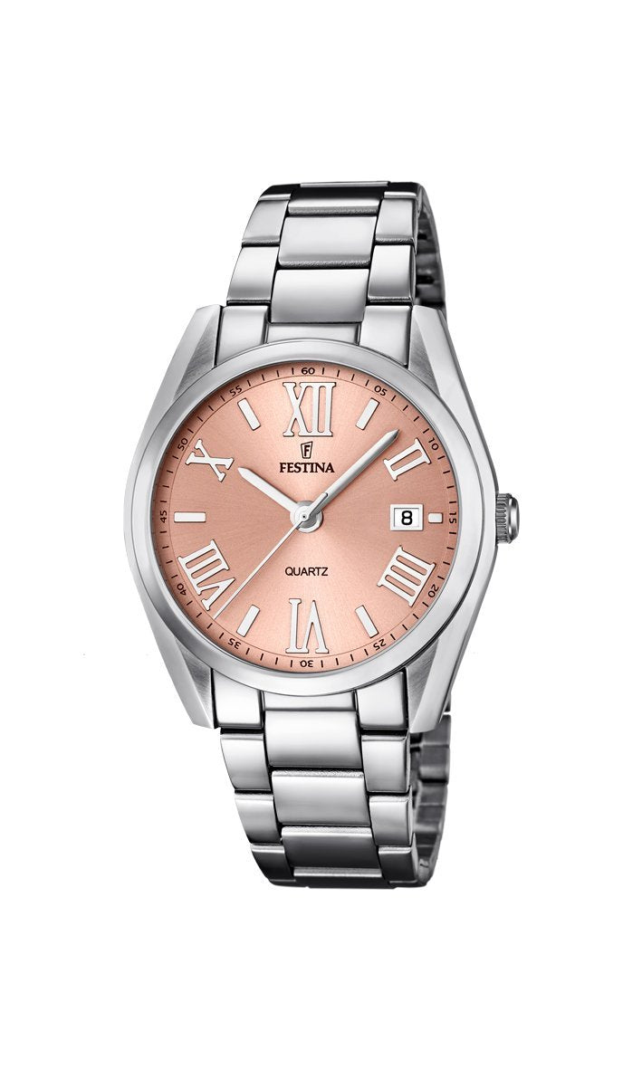 Festina Boyfriend Peach Dial Watch