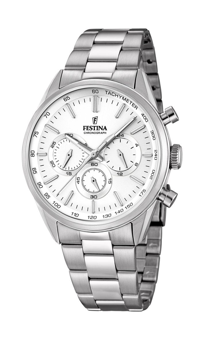 Festina Timeless Chrono Silver Bracelet Watch