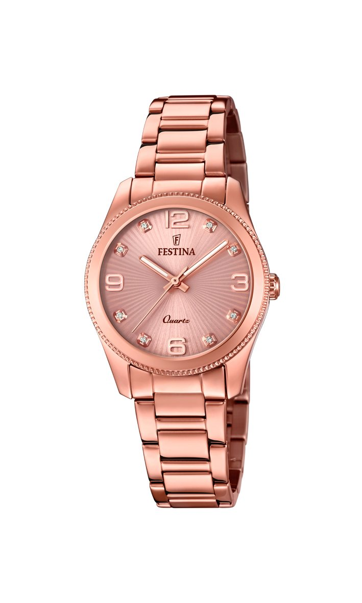Festina Boyfriend Rose Gold 31mm Watch