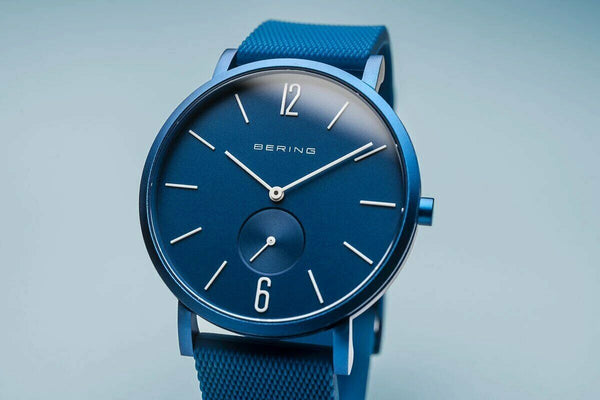 Bering True Aurora Blau Matt Watch