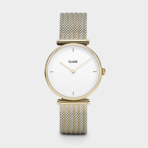 CLUSE Triomphe Gold Bicolour Mesh Ladies Watch