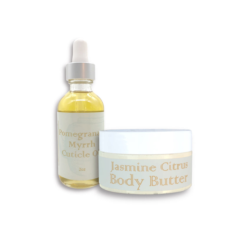 Jasmine Citrus Protectivity Body Butter & Cuticle Oil Set