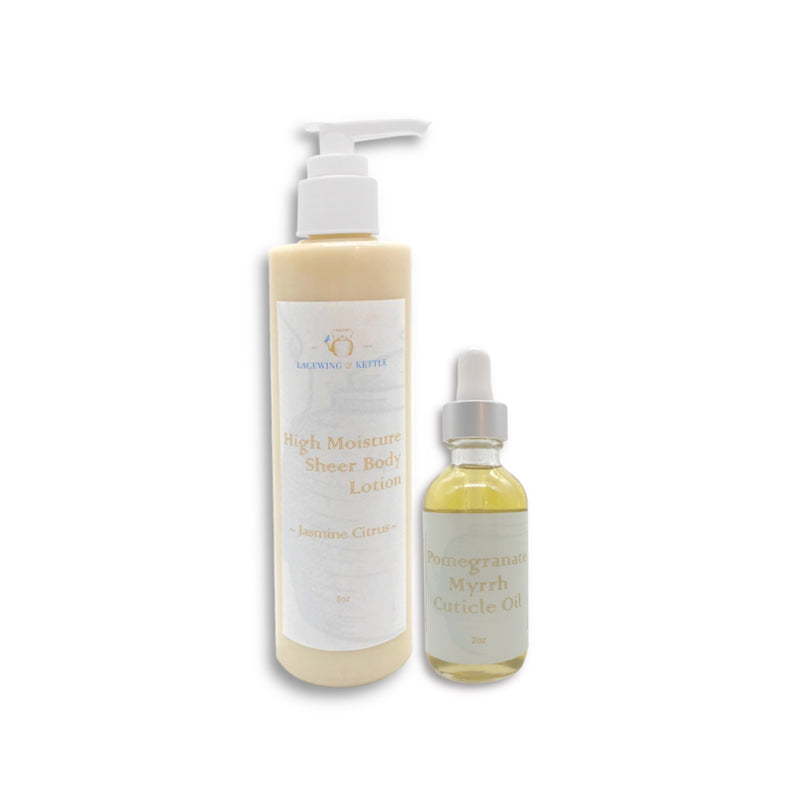 Jasmine Citrus High Moisture Body Lotion & Cuticle Oil Set