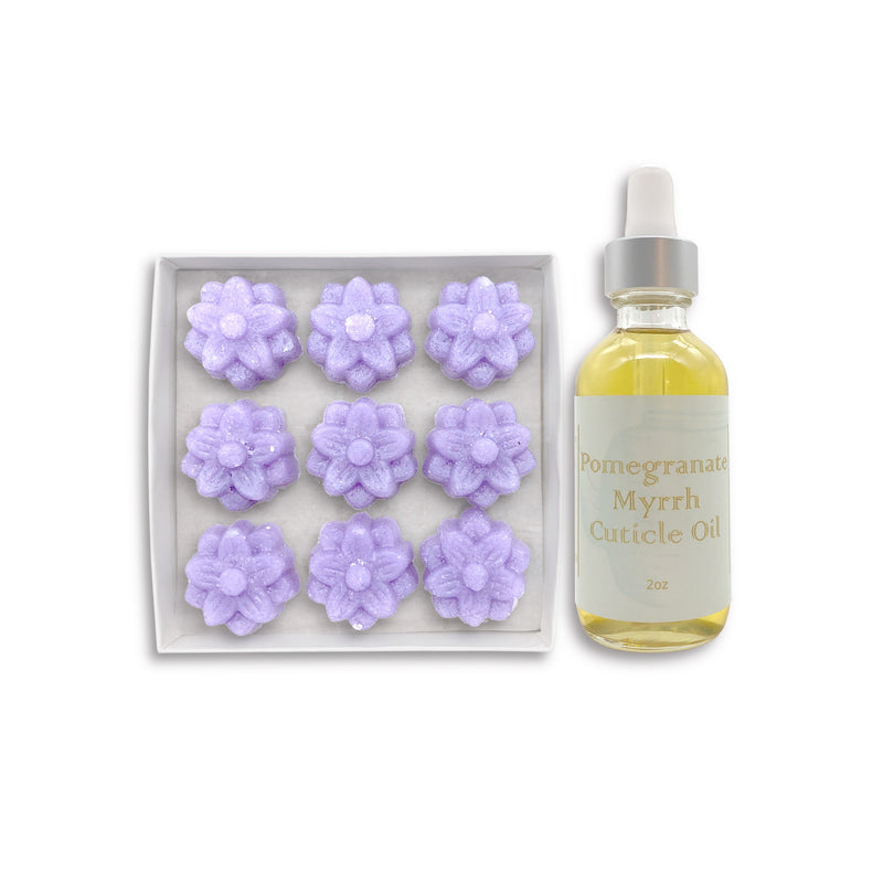Lilac Exfoliating Sugar Fleurette & Cuticle Oil Set
