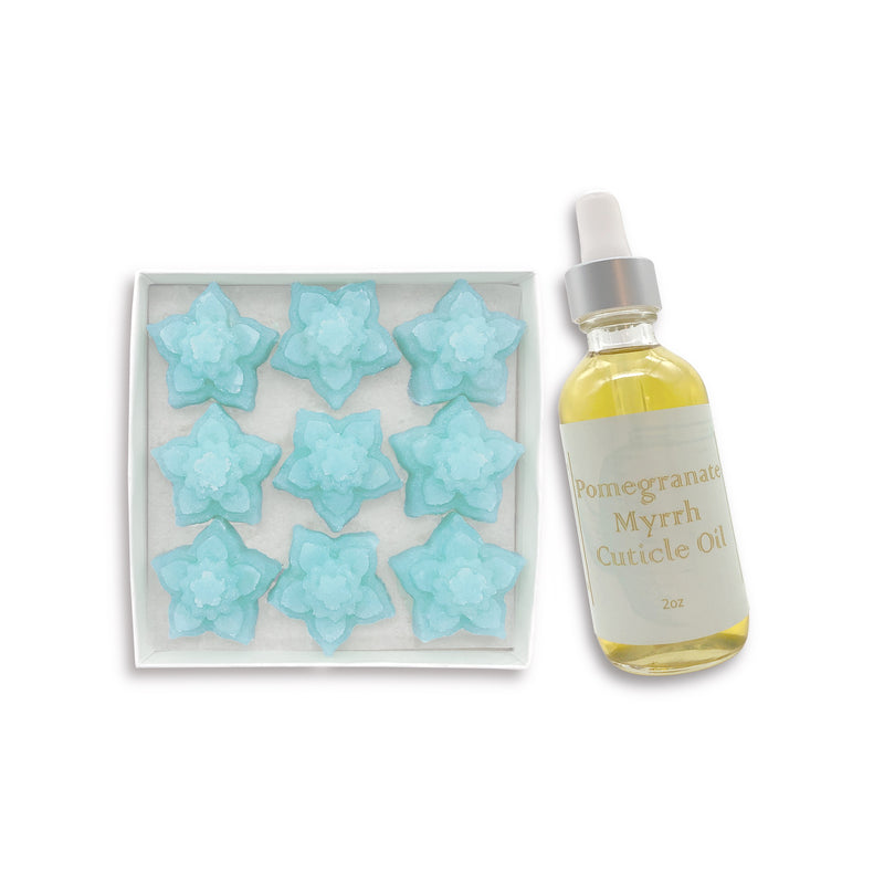 Orchid Exfoliating Sugar Fleurette & Cuticle Oil Set