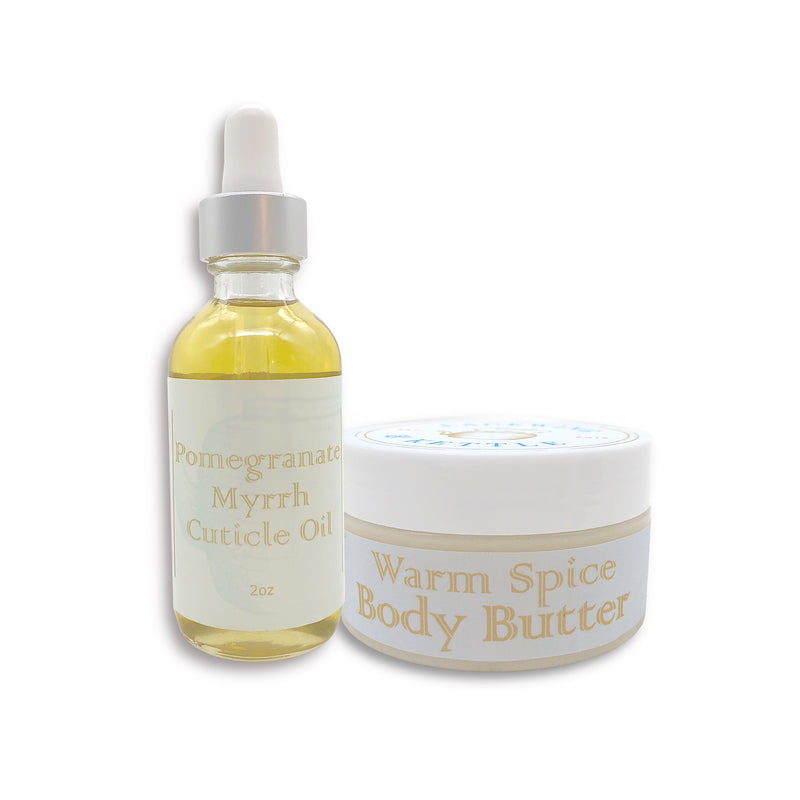 Warm Spice High Protectivity Body Butter & Cuticle Oil Set