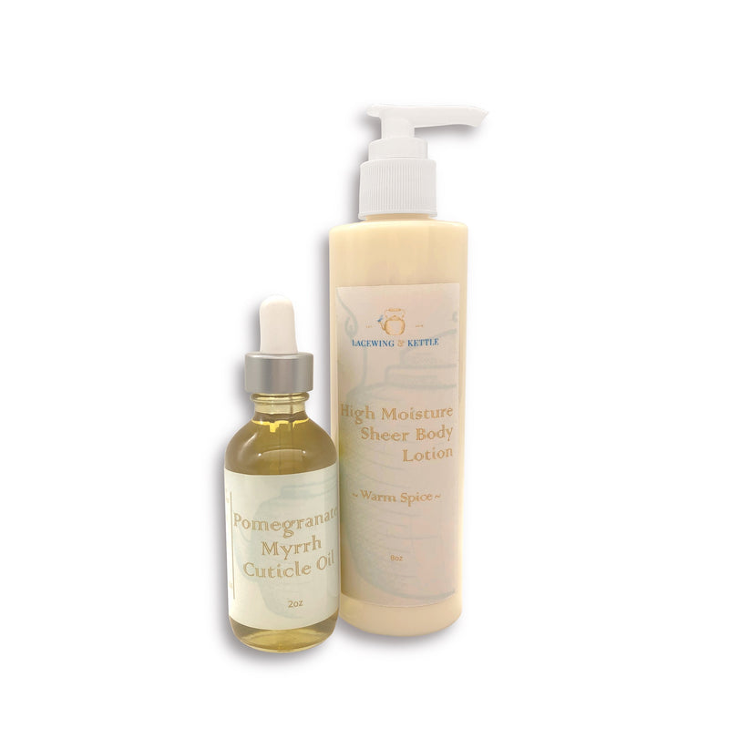 Warm Spice High Moisture Body Lotion & Cuticle Oil Set