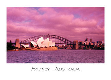 PCSYD22 OPERA HOUSE/HARBOUR BRIDGE - PINK