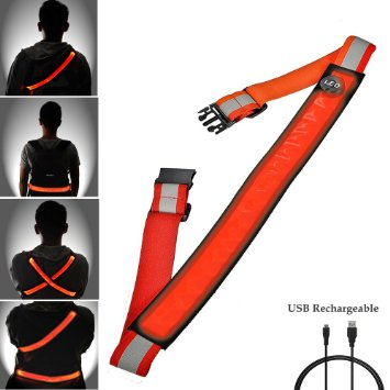 USB Rechargeable Reflective Belt