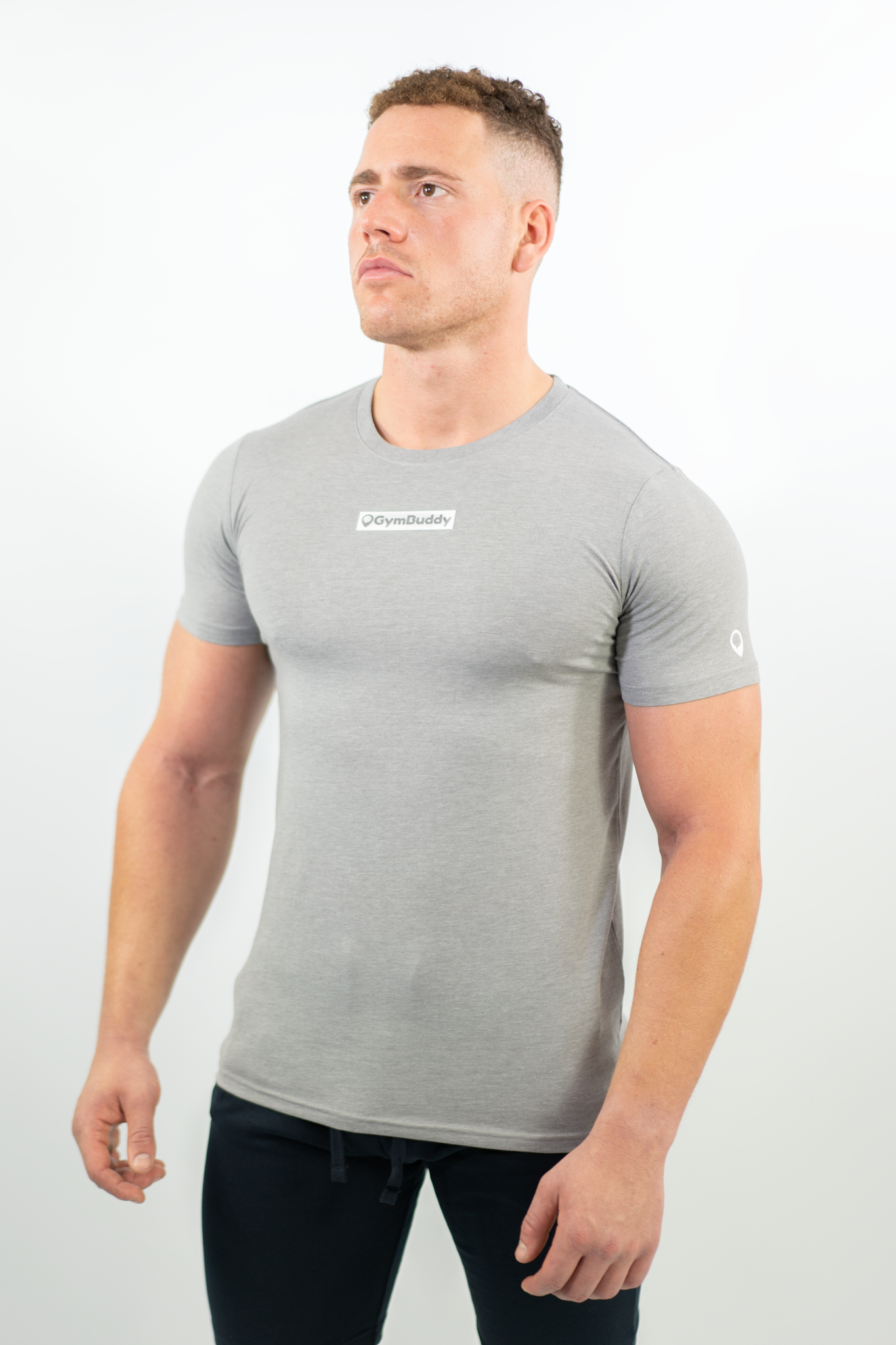 SOFT GREY NECESSITEE FITTED T-SHIRT