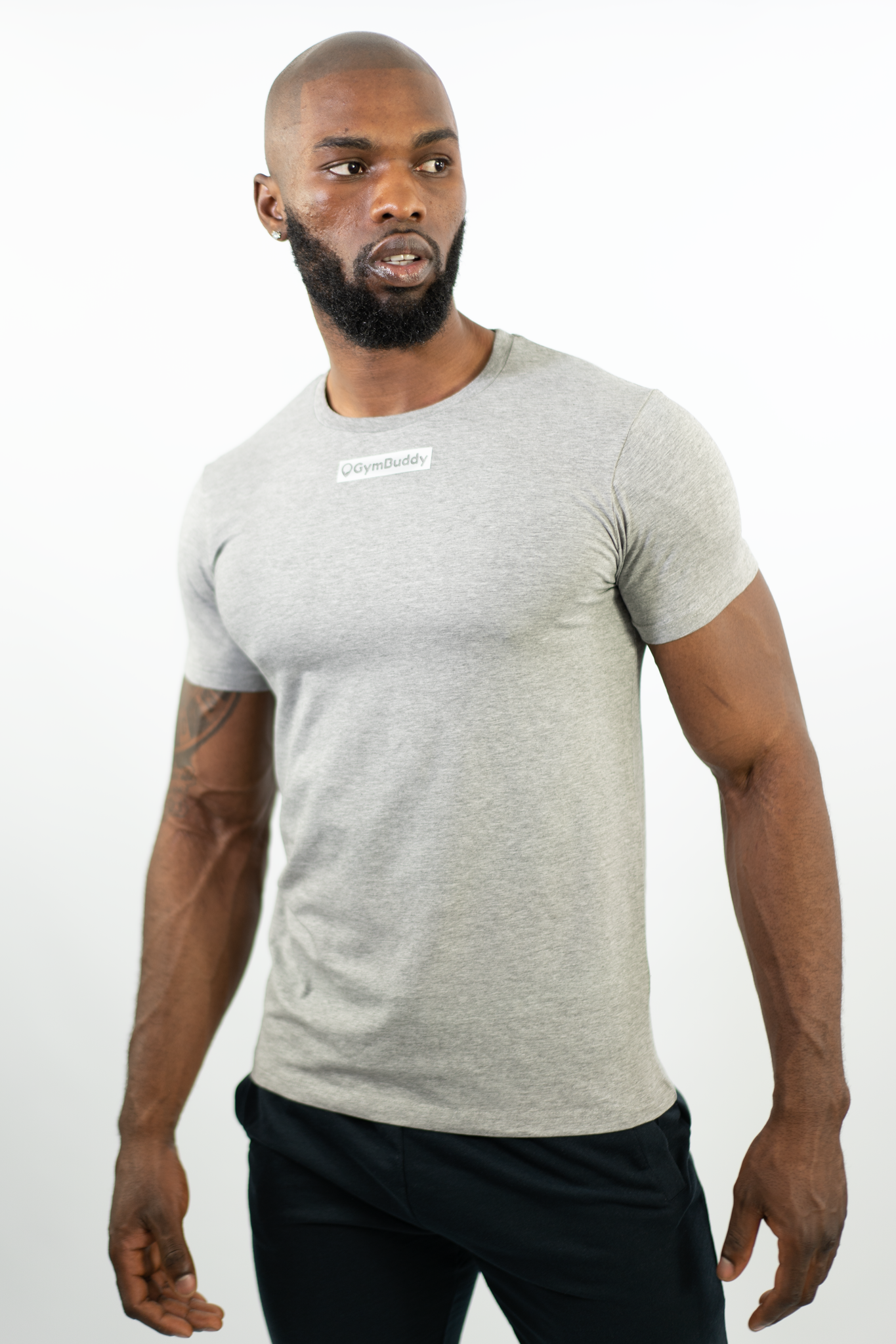 GREY FITTEE T-SHIRT