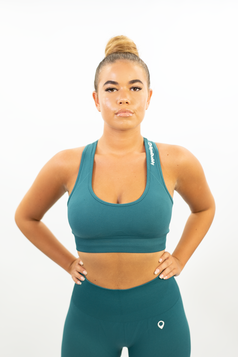 ROYAL GREEN VOGUE CROP TOP