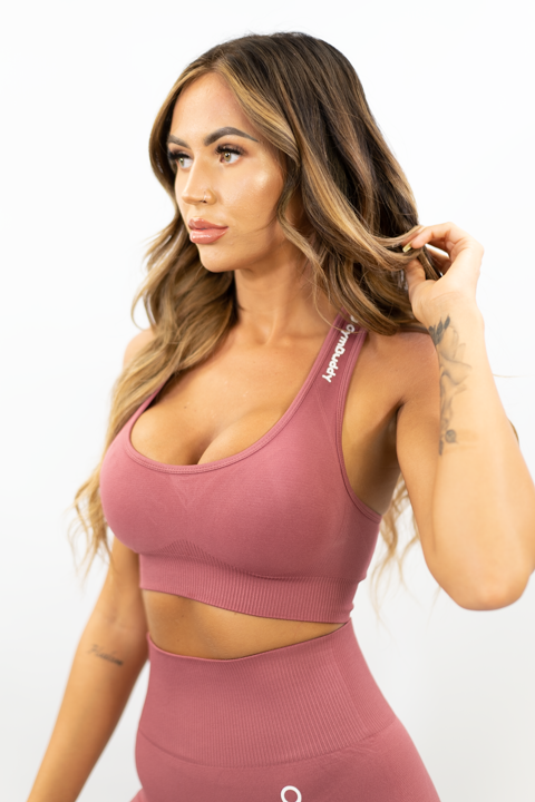 SOFT PEACH VOGUE CROP TOP