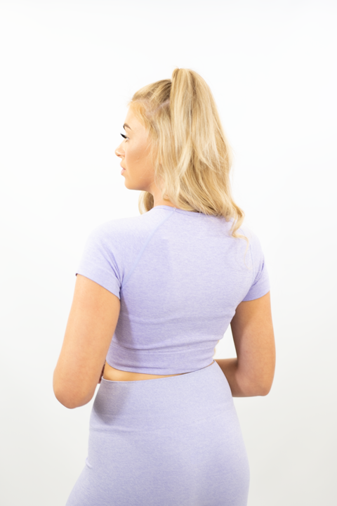 SOFT PURPLE VITAL SEAMLESS CROP TOP