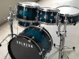 Colbern Drums Blue/Black Fade Birch Ply Drumset