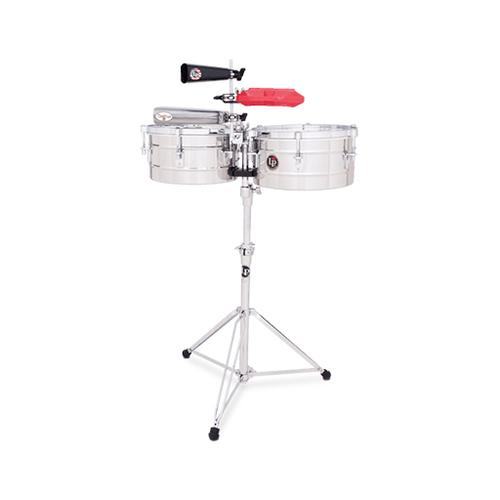 Latin Percussion LP255-S 12+13inch Tito Puente Timbales, Stainless Steel