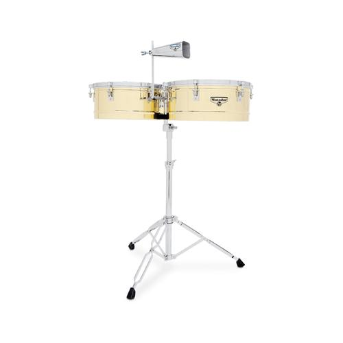 Latin Percussion M257-B 14inch & 15inch Matador Timbales, Brass