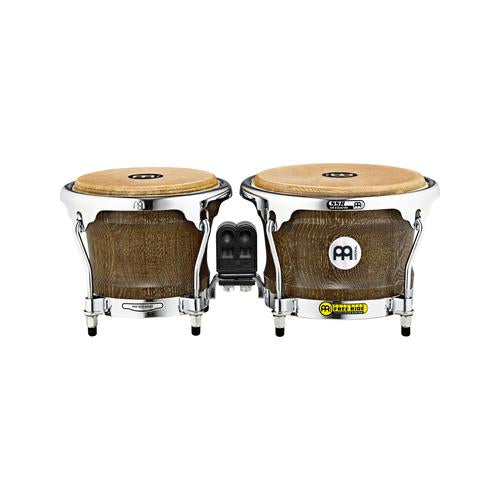 MEINL Percussion WB400VBR-M 7+8-1/2inch Woodcraft Series Wood Bongo, Vintage Brown